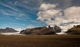 Glaciär i Island Fotografering för Bildbyråer