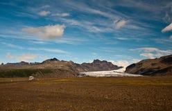 Glaciär i Island Arkivbild