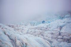 Glaciär i Skaftafell, Island Arkivfoton