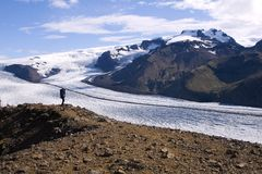 glaciär iceland Arkivfoton