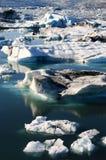 glaciär iceland Royaltyfri Bild