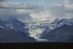 glaciär iceland arkivbild