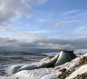 glaciär iceland nära vik royaltyfri bild