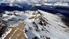 glaciär jagged bergnationalparkkant Royaltyfri Bild