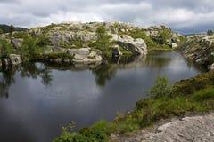 Glaciär lake Arkivbilder