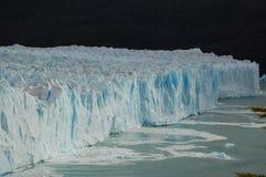 glaciär majestätiska patagonian arkivbilder