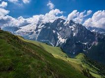 Glaciär Marmolada, Dolomites, Italien Royaltyfria Bilder