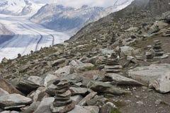 glaciär matterhorn switzerland Royaltyfria Foton