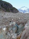 Glaciär Mer de Glace Arkivfoto