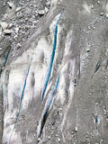 Glaciär Mer de Glace Royaltyfri Foto