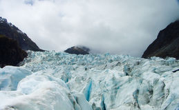 glaciär New Zealand royaltyfri bild