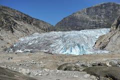 Glaciär Nigardsbreen Arkivfoton