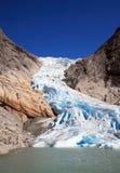 glaciär norway Arkivfoton