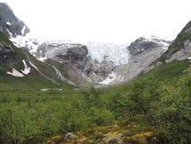 glaciär norway Royaltyfri Foto
