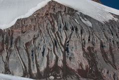 Glaciär och stenras Arkivbild