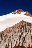 Glaciär och stenras Arkivbilder