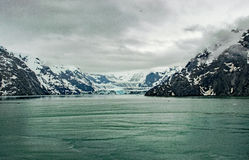 Glaciär på arbete Royaltyfria Foton