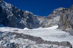 Glaciär på berget för jadedrakesnö Royaltyfri Foto