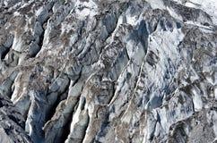 Glaciär på det Yulong snöberget Arkivfoton