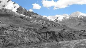 glaciär Pamir Fotografering för Bildbyråer