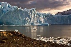Glaciär Perito Moreno, Argentina Arkivbild