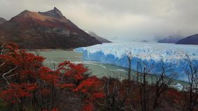 Glaciär Perito Moreno National Park i höst Argentina Patagonia stock video