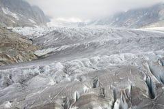 glaciär rhone Royaltyfri Bild