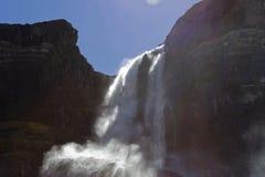 glaciär rockies för bowkanadensarefalls royaltyfri foto