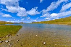 Glaciär sjö överst av självständighetpasserandet Colorado arkivfoto