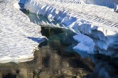 Glaciär som smälter i Norge Royaltyfri Foto