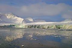 glaciär svalbard royaltyfri fotografi