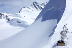 glaciärbackhus Arkivfoto