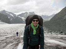glaciärbergsbestigare royaltyfri fotografi