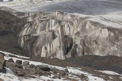 Glaciären av intressant form Arkivfoton