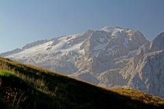 Glaciären av Marmolada Royaltyfri Bild