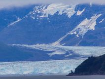 Glaciären möter glaciären arkivbild