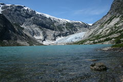 glaciären nigardsbreen Royaltyfria Bilder