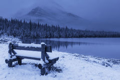 Glaciären parkerar i vinter Royaltyfri Bild