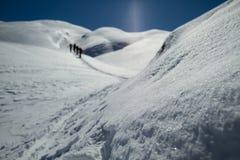 Glaciären skidar turnerar arkivbilder