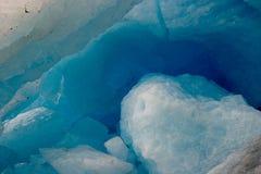 glaciären svartisen Arkivbild