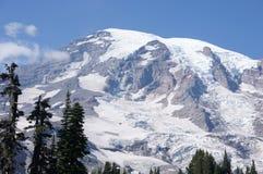 Glaciärer på den mer regniga monteringen Royaltyfria Bilder