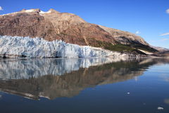 Glaciärfjärd - Alaska Fotografering för Bildbyråer