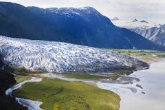 Glaciäris som smälter in i en sjö Royaltyfri Foto