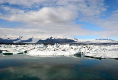 glaciärisbergiceland hav Fotografering för Bildbyråer
