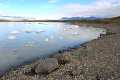 glaciärisbergiceland hav Arkivbilder