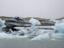 Glaciärlagun, Jokulsarlon, Island Royaltyfria Foton