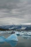 Glaciärlagun, Jokulsarlon, Island Arkivbild