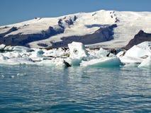 glaciärlake Arkivbilder