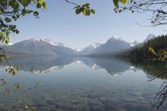 glaciärlakemcdonald nationalpark Arkivfoton