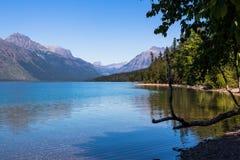 glaciärlakemcdonald nationalpark Fotografering för Bildbyråer